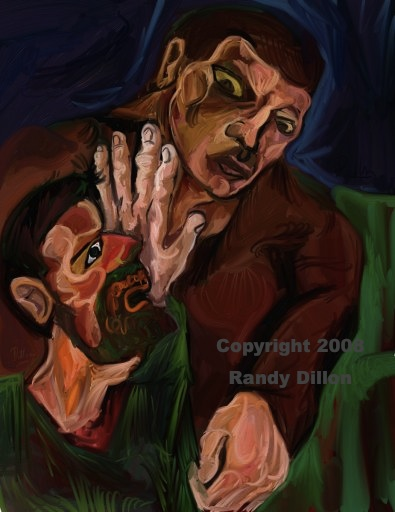 Fine Art Print - Men Struggling