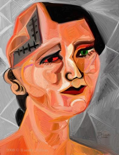 Female Soldier with Decompressive Craniectomy print