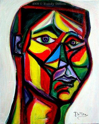 Face of Man acrylic painting
