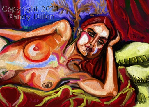 Fine Art Print - Woman Laying on Bed in January