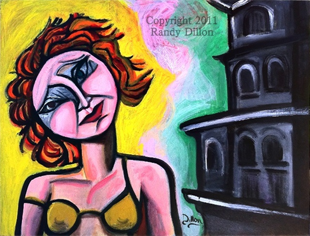 Painting - Woman with Red Hair Tilting Her Head
