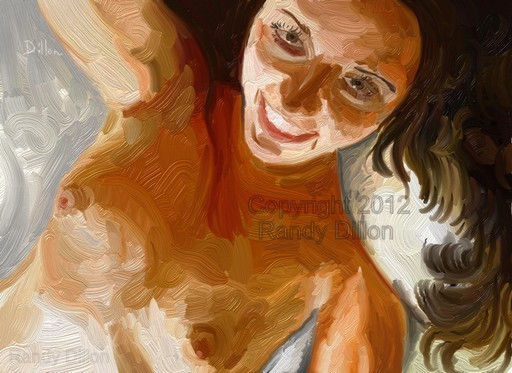 Fine Art Print - Reclining Woman Smiling in June