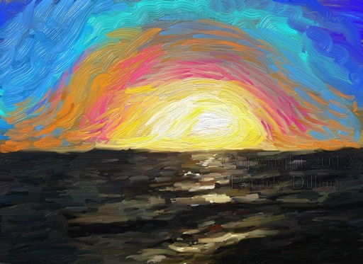 Fine Art Print - Seashore at Sunrise in October
