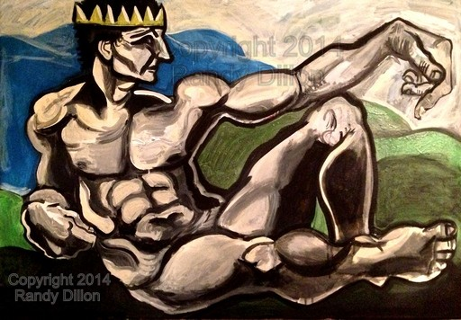 Painting - Reclining Man