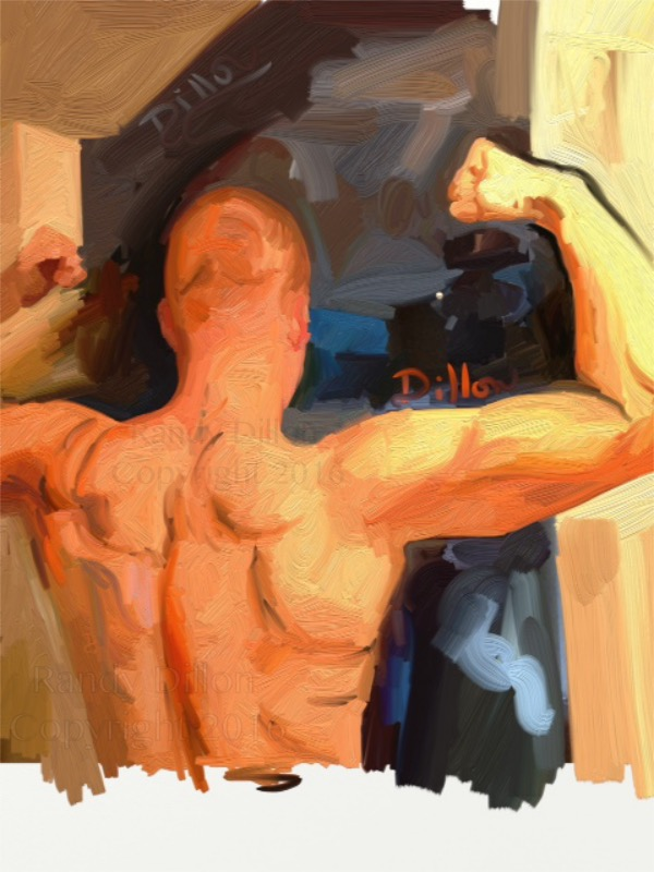 Back of a Man in August - Fine Art Print
